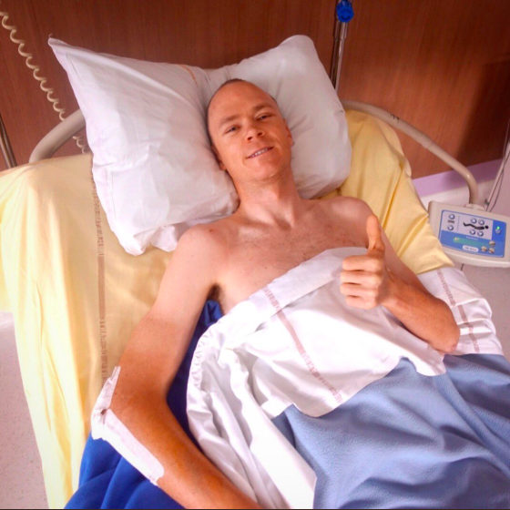 クリス・フルームが術後初めてコメントを公開!退院まで6週間、全治6ヶ月の診断。